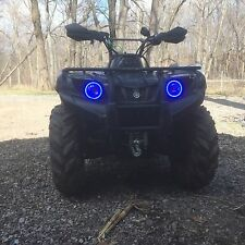 Yamaha Grizzly  700  rings lights set 2 Blue Angel Eyes Halos