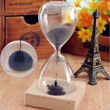 Magnetic Timer Sand Hourglass Desktop Decor Gift Box for Kids with Track Number