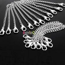 Hotsale Fashion Men Silver Plated Necklace Chain Extender Lobster Clasp HYUK 10pcs
