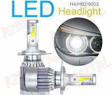 2x LAMPADE LED H4 H5 R2 6000K + ADATTATORE AUTO EPOCA FIAT 500 126 PANDA SCOOTER
