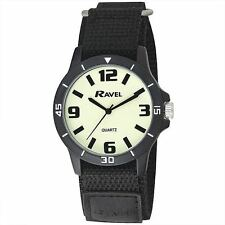 Men's Nite-Glo Watch. Fast Fit Strap, Luminous Nite-Glo Dial, R1722.