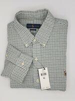 NWT,Polo Ralph Lauren Men's Classic Fit OXFORD Casual Shirt-X-LARGE-Green Checks