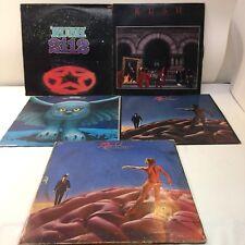 Lot Of 5 Rush Vinyl LPs Records Red Vinyl Anthem Hemisphere 2112 Fly By Night
