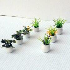 7pcs Dollhouse Miniature Pot Flowers Landscape DIY Sand Table Plant Model 4cm