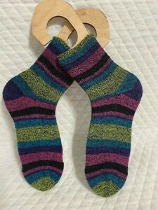 Hand knitted crew socks and ready to ship