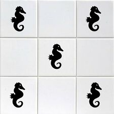 SEAHORSE TILE- WALL STICKERS 12X /TILE DECALS TRANSFORM YOUR BATHROOM / BAR/ ect
