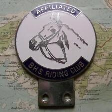 c1960 Old Vintage Car Mascot Badge for British Horse Society Riding Club