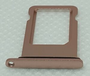 "Used Genuine Rose Gold Apple iPhone 7 Plus A1784 OEM 5.5"" Sim Tray With Gasket"