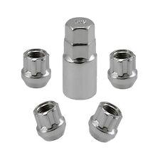 Chrome Open End Locking Lug Kit 12x1.5 Threads   4 Lugs 1 Key   Wheel Locks