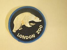 London Zoo Polar Bear Embroidered Iron On Sewing Patch