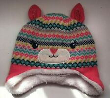 John Lewis Children's Fair Isle Trapper Hat / Pink Size Small New With Defect