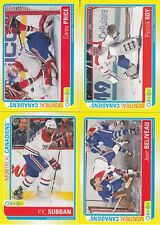 13/14 OPC Montreal Canadiens Sticker Team Set Roy Price Beliveau Subban