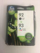 HP 92/93 Black/Tri-Color Ink Cartridges, 2/Pack (C9513FN) - OPEN BOX