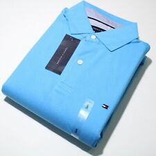 Men's Tommy Hilfiger Short Sleeve Aqua Polo Shirt |CUSTOM FIT   NWT