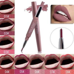 MISS ROSE Waterproof Pencil Lipstick Pen Matte Lip Liner Long Lasting Makeup