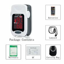 Pulse Oximeter Finger Tip Pulse Blood Oxygen SpO2 Monitor FDA Approved US White