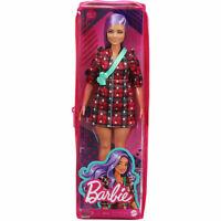 Mattel - Barbie FASHIONISTAS DOLL #157 (Lavender Hair, Red Plaid Dress) GRB49
