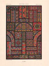 RACINET ORNEMENT POLYCHROME 44 Medieval decorative arts patterns motifs c1885