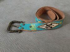 Ed Hardy black Handmade Genuine Leather belt Black Rare EH3049 S
