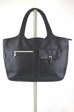 PICARD LARGE BLACK LEATHER BAG SHOPPER TOTE SHOULDER BAG