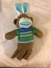 Sock Monkey Dan Dee Plush Easter Bunny Ears