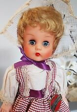 "Vintage 1960s  Pullan Country Girl Canada Stuffed Vinyl Doll 14.5"" Original RARE"