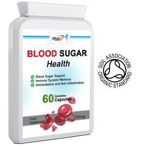 Blood Sugar Diabetic & Immune Support System Supplement 100% ORGANIC 60 Capsules