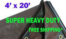 4' x 20' Super Heavy Duty 8 oz. Tarp Brown - BR4x20 - 1 Each