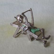 VINTAGE SILVER SUPER RARE NUVO MAN WITH DECKCHAIR CHARM