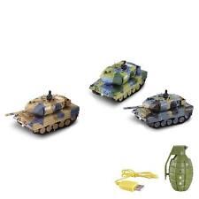 RC ferngesteuerter German Leopard 2A6 Panzer mit Kampf-Modus und Sound, 1:77,Neu