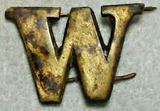 Civil War Relic Very Large and Very Rare Copper Letter W Recovered in Central Va