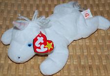 "RARE TY Beanie Baby Mystic Unicorn 8"" DOB 1994 Irredescent Horn Yarn Mane Tail"