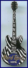 Hard Rock Hotel ORLANDO 2001 ZEBRA Striped Gibson ES Guitar PIN - HRC #6938
