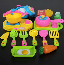 FD554 Plastic Children Kids Chef Toy Kitchen Cookware Food Spoon Pan Pot ~17pcs~