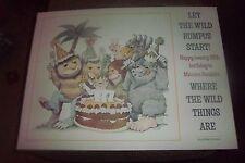 WHERE THE WILD THINGS ARE POSTER HAPPY 25th BIRTHDAY MAURICE SENDAK'S (RARE)