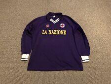 Fiorentina MATCH WORN Home Football Shirt 1990 1991 MARIUS LACATUS Adults Large