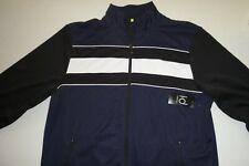 ideology mens designer full zip track jacket sz: medium color: green