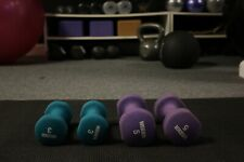 5 LB & 3 LB Neoprene Dumbbell PAIR Home Gym  Hand Weights.