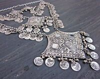 Boho Coin Necklace Tribal Vintage Gypsy Kuchi Ethnic Statement Fashion Jewelry