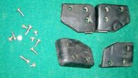GETAC B300 RUGGED TOUGHBOOK LAPTOP PARTS SET OF 4 RUBBER CORNERS WITH SCREWS