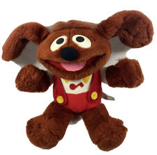 Muppet Babies Hasbro Softies ROWLF Vintage Dog Plush Stuffed Animal 1985