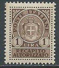 1946 LUOGOTENENZA RECAPITO AUTORIZZATO 1 LIRA MNH ** - K159-7
