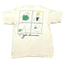 Vtg 90s John Lennon Mens T-Shirt Hard Rock Cafe 2 Sided Artwork Tee Beatles Sz L
