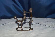 Art African/Statuette Bronze Scene Of Enema Adult / Ref 1