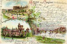 1728/ Litho AK, Gruss aus Cassel, 1899