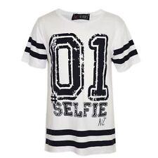 T-shirts et hauts blancs en polyester pour garçon de 2 à 16 ans