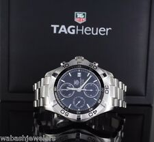 Men's TAG Heuer Stainless Steel Chronograph AuqaRacer 300 Meters Watch CAF2110