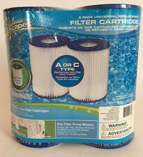 Summer Escapes Pool Filter Cartridges 2 Pack Universal Replacement Type A Or C