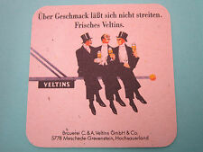 Beer Coaster    VELTINS Brewing Pilsener ~ GERMANY ~ Men Sitting & Drinking Pole
