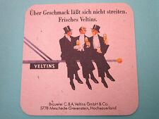 Beer Coaster <> VELTINS Brewing Pilsener ~ GERMANY ~ Men Sitting & Drinking Pole